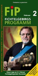 Fichtelgebirgs-Programm - Februar 2019