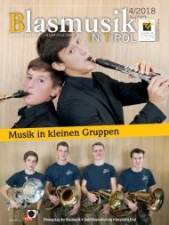 Blasmusik in Tirol, Ausgabe 4 / 2018