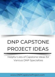 Helpful Lists of Capstone Ideas for Various DNP Specialties