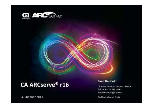 CA ARCserve® r16 - klopfer  datennetzwerk gmbh