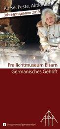 Workshops bei den Germanen - Jahresprogramm 2019