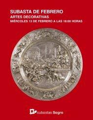 Subasta de Artes Decorativas Febrero 2019