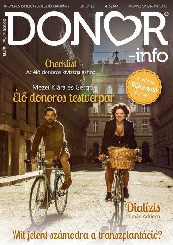 DONOR-info magazin 4 .szám