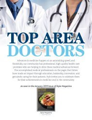 Top Area Doctors: Style Magazine January 2019