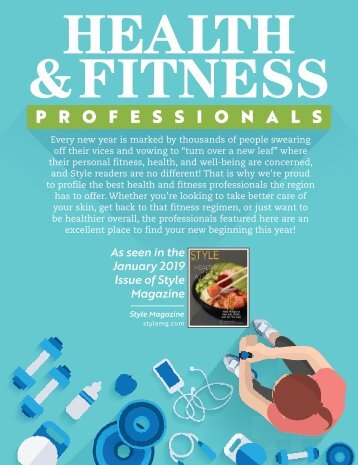 Health & Fitness Professionals: Style Magazine January 2019