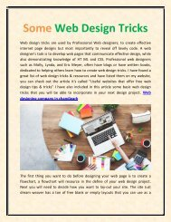 Some Web Design Tricks