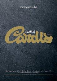 Menukaart magazine Gasthof Cardis