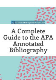 A Complete Guide to the APA Annotated Bibliography