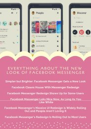 Everything About the New Look of Facebook Messenger