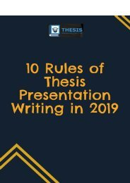 10 Rules of Thesis Presentation Writing in 2019