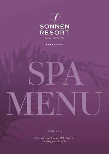 Sonnen Resort SPA MENÜ