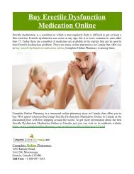 Buy Erectile Dysfunction Medication Online