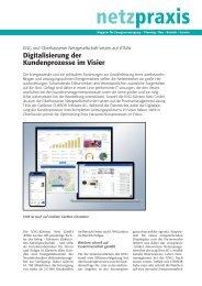 Kärnten Netz und Oberhausener Netzgesellschaft, Digitalisierung der Kundenprozesse, netzpraxis 1/2 2019