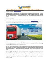 Expect Safe Transportation Services with the Move with Movers