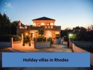 Luxurious Holiday Villas in Rhodes for Rent
