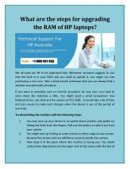 What are the steps for upgrading the RAM of HP laptops?
