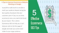 5 Tips to Improve Ecommerce Website Ranking on Google