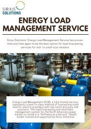 Cost Effective Energy Load Management Service by Sirius Solutions