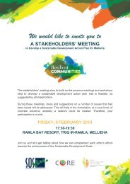 Resilient Communities Stakeholders Meeting Invitation