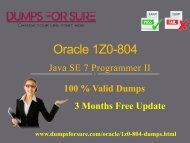 Oracle 1Z0-804 Dumps