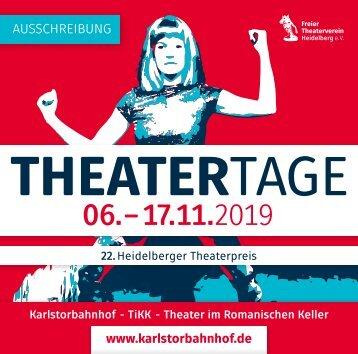 HEIDELBERGER THEATERTAGE 2019 - AUSSCHREIBUNG