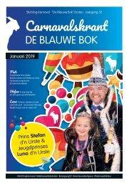 Carnavalskrant Blauwe Bok 2019