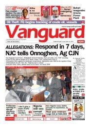 30012019 - ALLEGATIONS: Respond in 7 days, NJC tells Onnoghen, Ag CJN