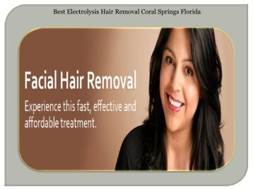 Best Electrolysis Hair Removal