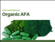 Organic AFA