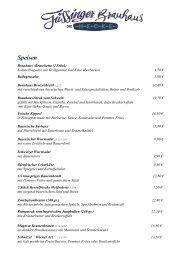 Speisekarte Hecke - Weinhecke
