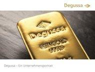 Degussa Goldhandel Pressemappe