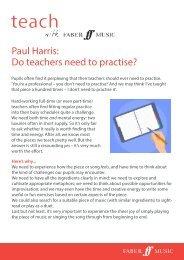 Paul Harris - do teachers need to practise?