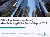 Office Supplies Manufacturing Global Market Report 2019