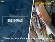 Things you should ask your junk removal agency