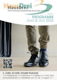 HausDrei Programm Juni/ Juli 2018