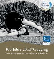 Flyer Jubiläumsjahr 2019 Bad Gögging
