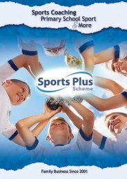 Sports Plus Scheme Portfolio NO PRICES