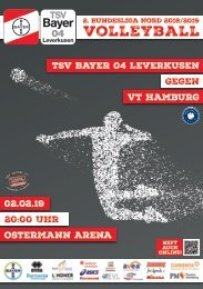 Spieltagsnews Nr. 8 gegen VT Hamburg