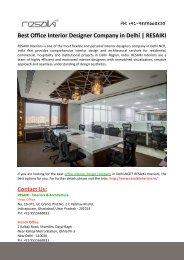 Best Office Interior Designer Company in Delhi-RESAIKI INTERIORS
