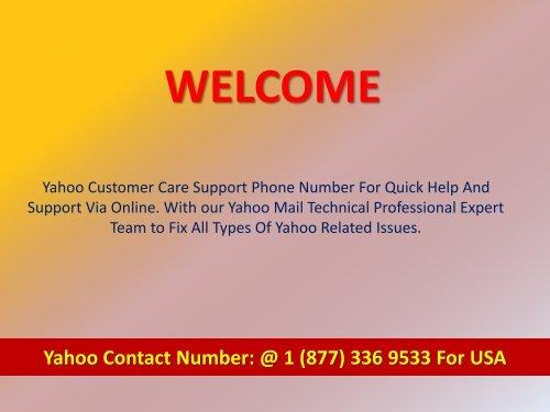 Yahoo Mail Help Desk Phone 1877-503-0107 Number