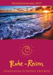 Ruhe-Reisen Katalog 2019