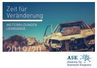 ASK Akademie für Systemische Kompetenz Veranstaltungskalender 2019/20