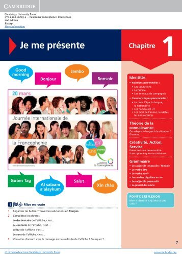 9781108467254 panorama francophone coursebook