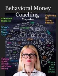 Behavioral Money Coaching Magazine - Premier Issue