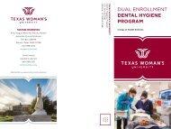 TWU Dental Hygiene Dual Enrollment Brochure