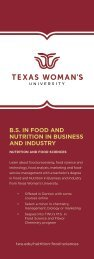 TWU Nutrition in Business and Industry Info-card
