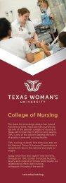 TWU Nursing Info-card
