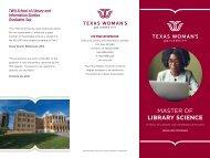 TWU Master of Library Science Brochure
