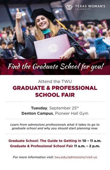 TWU Grad Fair Poster
