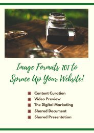Image Formats 101 to Spruce Up Your Website!